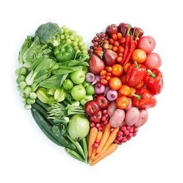 Food love heart