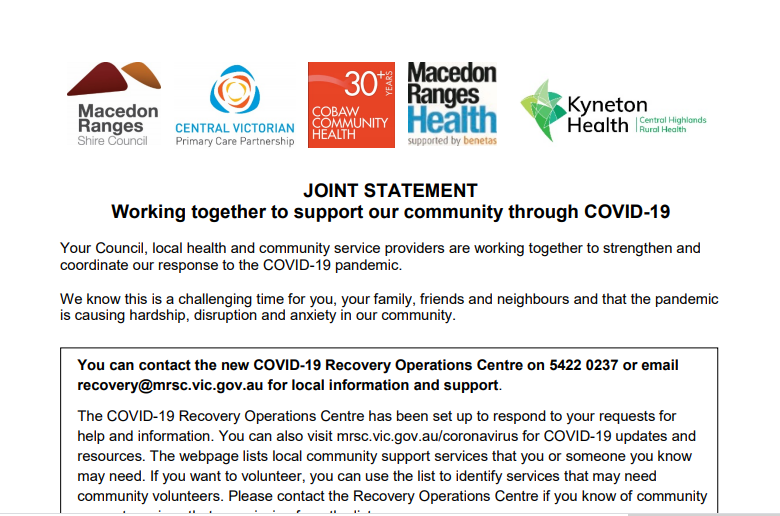 joint statement COVID19